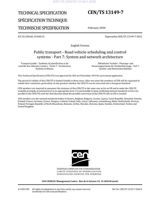 SIST-TS CEN/TS 13149-7:2020 - BARVE na PDF-str 10,14,17,25