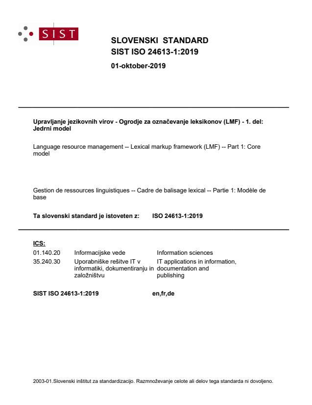 SIST ISO 24613-1:2019
