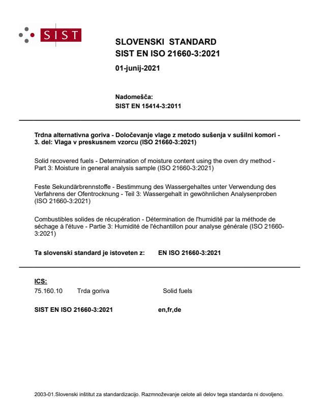 SIST EN ISO 21660-3:2021