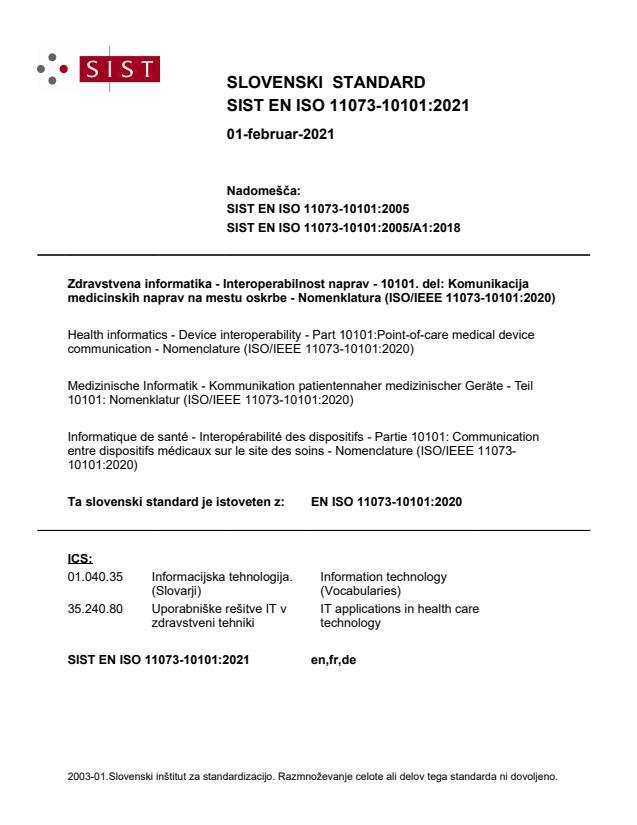 EN ISO 11073-10101:2020