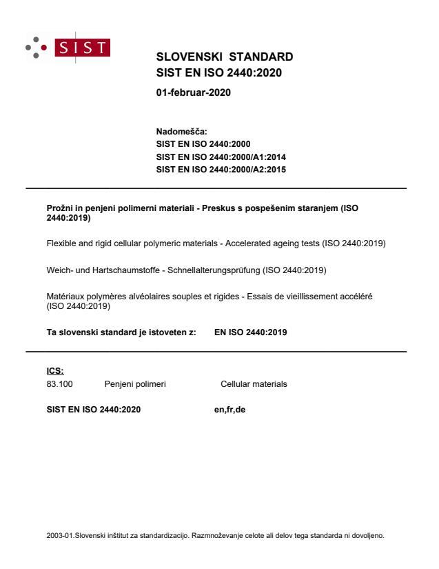 EN ISO 2440:2020