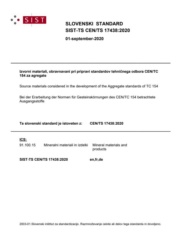 SIST-TS CEN/TS 17438:2020