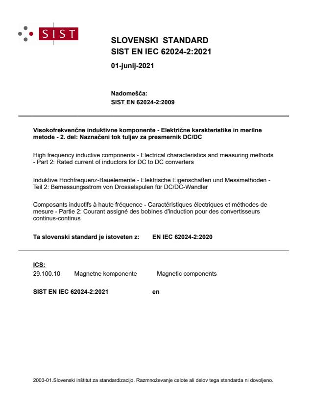 SIST EN IEC 62024-2:2021