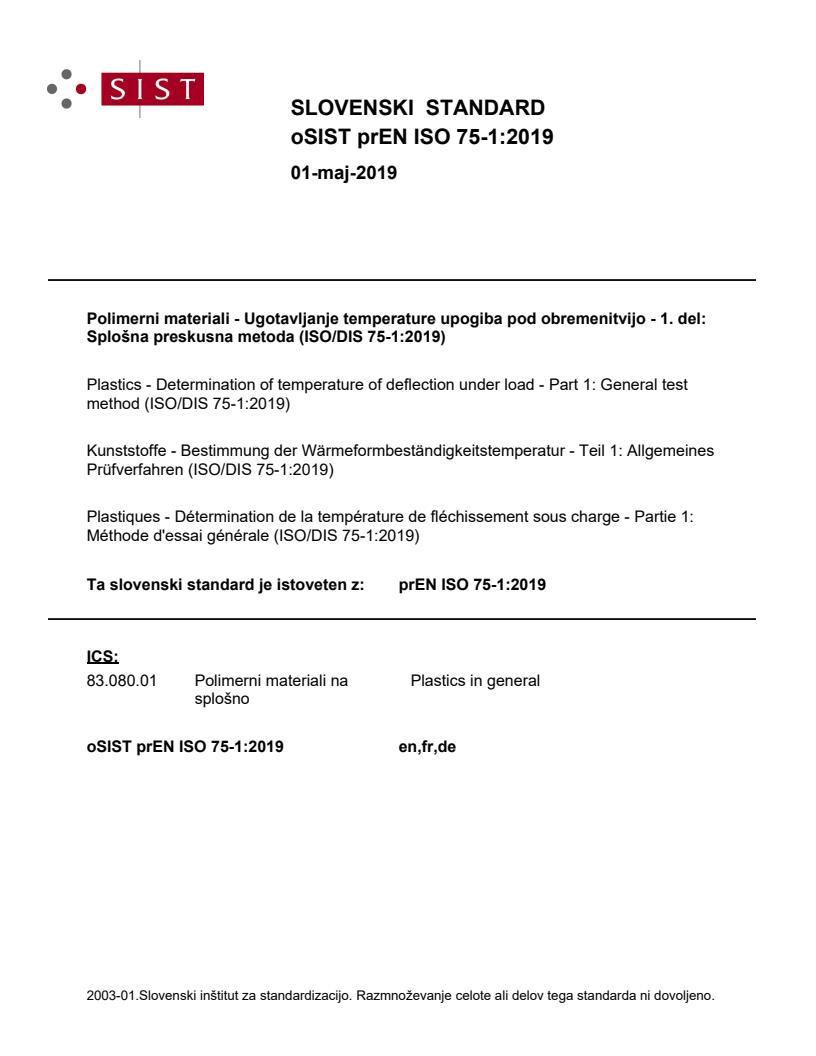 SIST EN ISO 75-1:2020