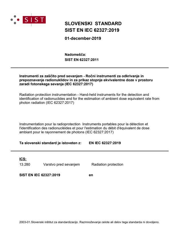 SIST EN IEC 62327:2019