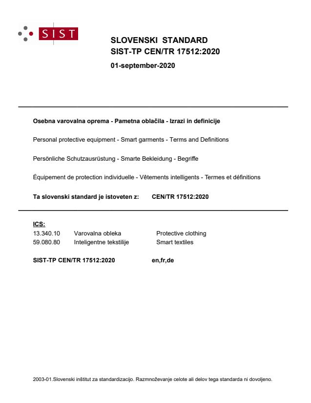 SIST-TP CEN/TR 17512:2020