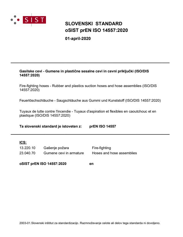 oSIST prEN ISO 14557:2020