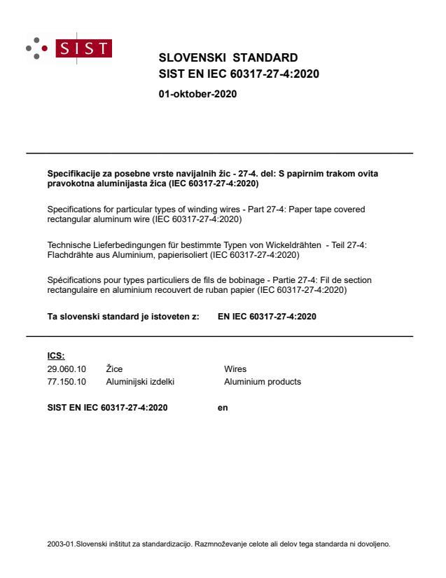 SIST EN IEC 60317-27-4:2020