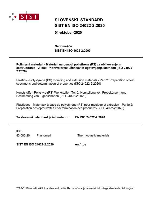 SIST EN ISO 24022-2:2020
