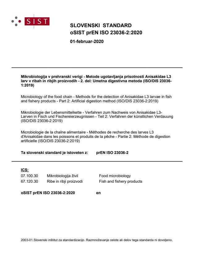oSIST prEN ISO 23036-2:2020