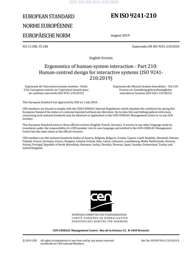 EN ISO 9241-210:2020