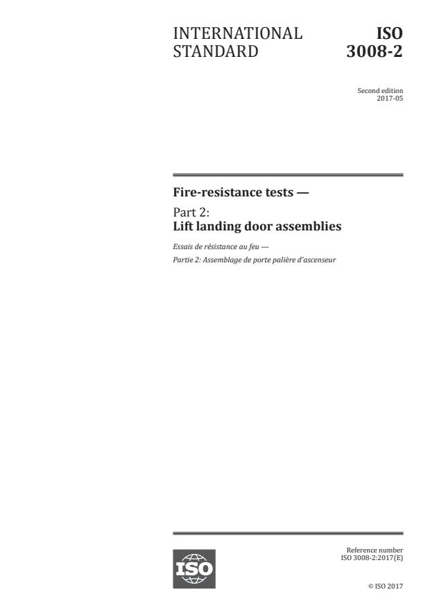 ISO 3008-2:2017 - Fire-resistance tests