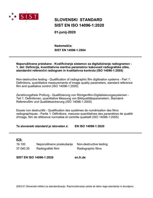 EN ISO 14096-1:2020