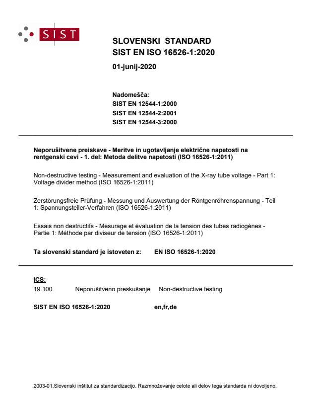 SIST EN ISO 16526-1:2020