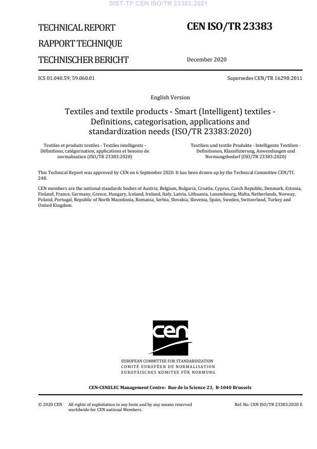 SIST-TP CEN ISO/TR 23383:2021