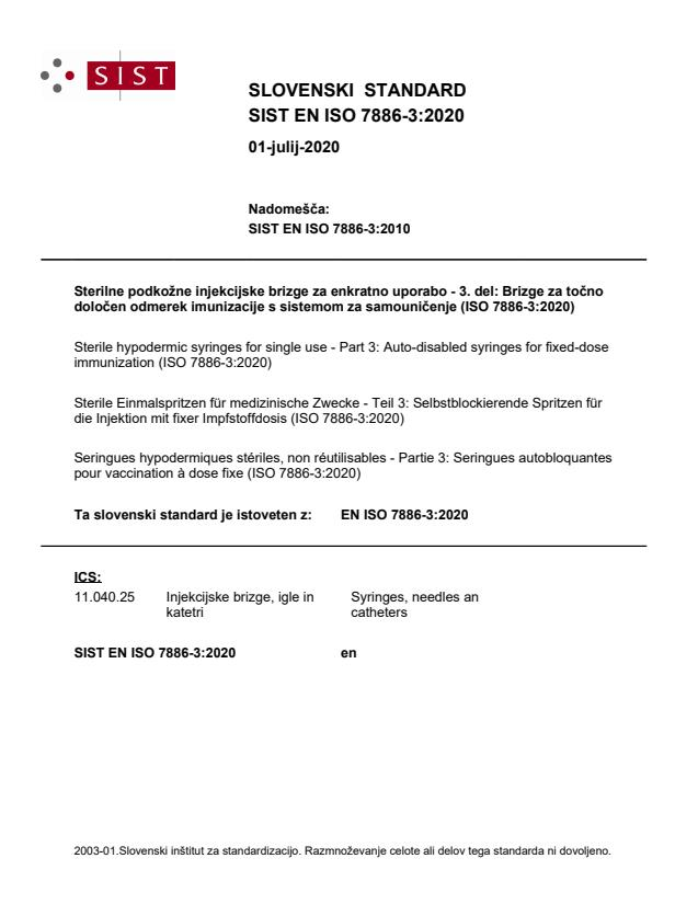 SIST EN ISO 7886-3:2020