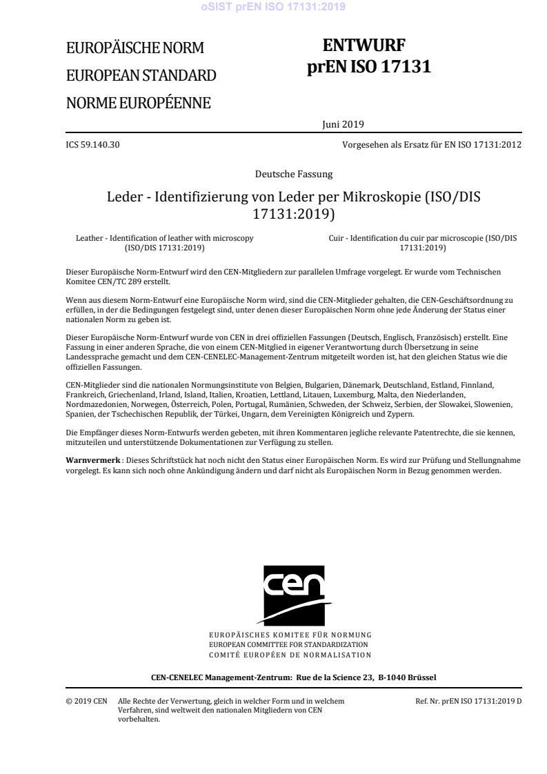 EN ISO 17131:2020