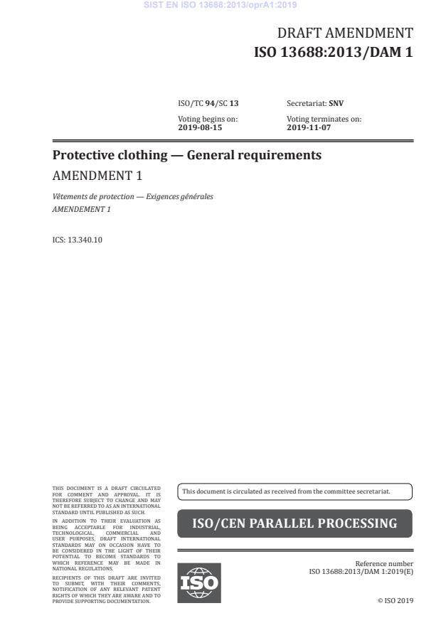 EN ISO 13688:2013/oprA1:2019