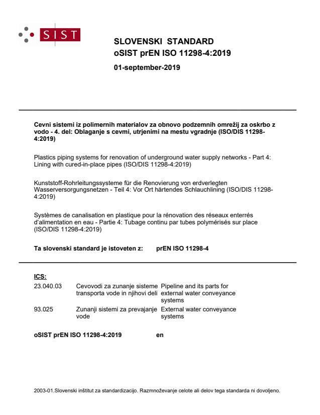 oSIST prEN ISO 11298-4:2019