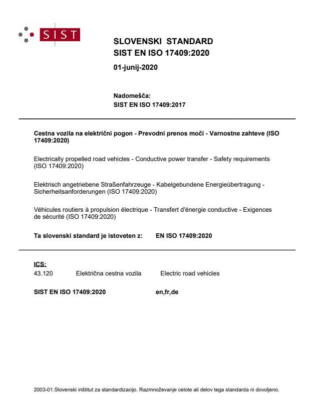 EN ISO 17409:2020