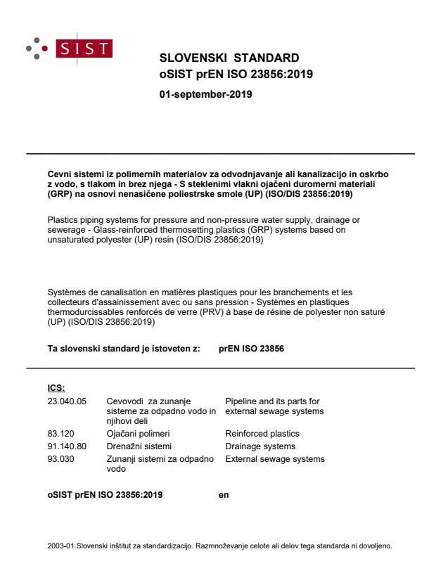oSIST prEN ISO 23856:2019