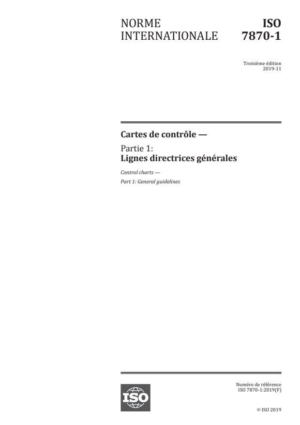 ISO 7870-1:2019 - Cartes de contrôle