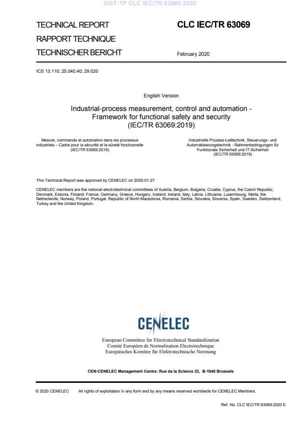 CLC IEC/TR 63069:2020