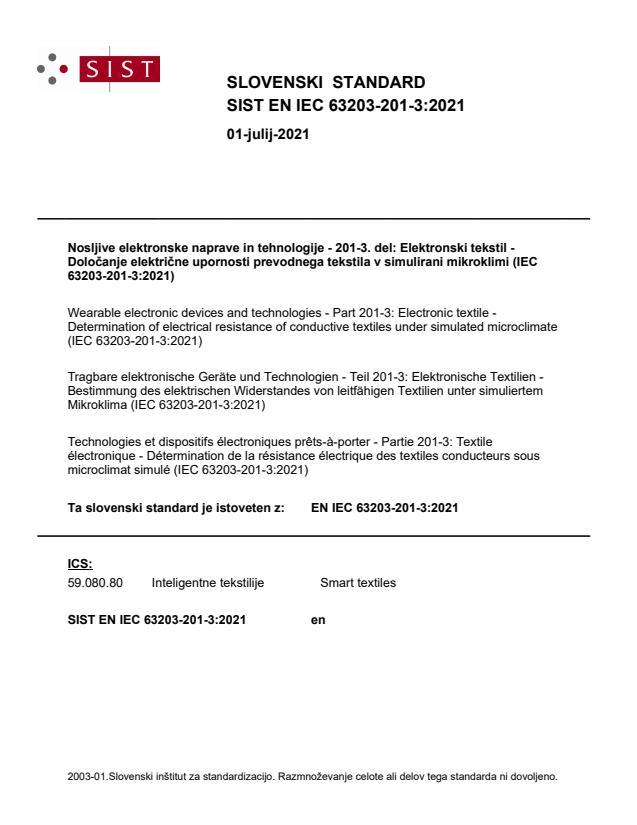 SIST EN IEC 63203-201-3:2021