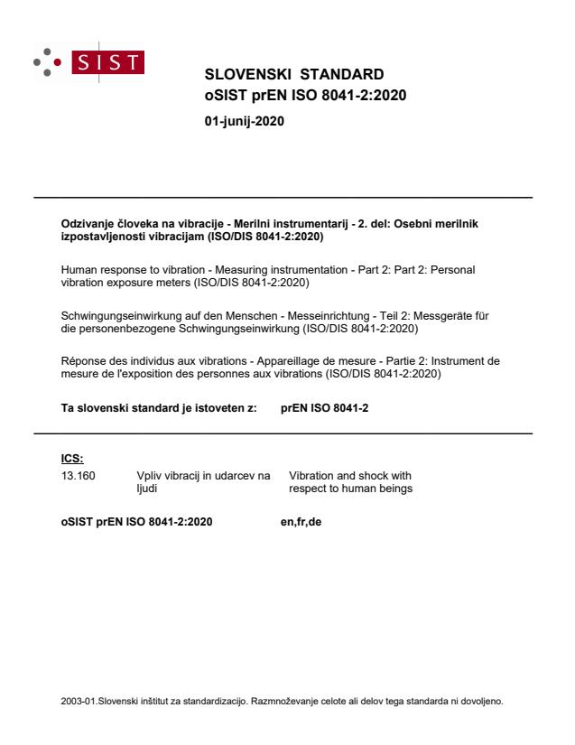 oSIST prEN ISO 8041-2:2020 - BARVE na PDF-str 55,59,60