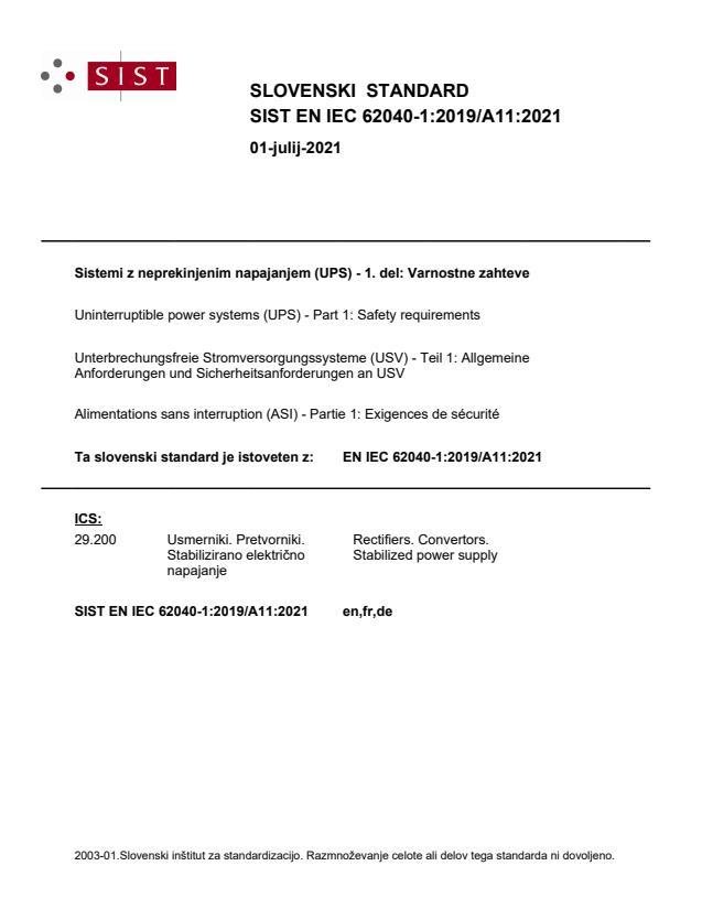 SIST EN IEC 62040-1:2019/A11:2021