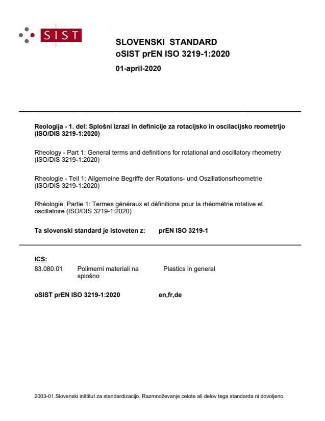 oSIST prEN ISO 3219-1:2020