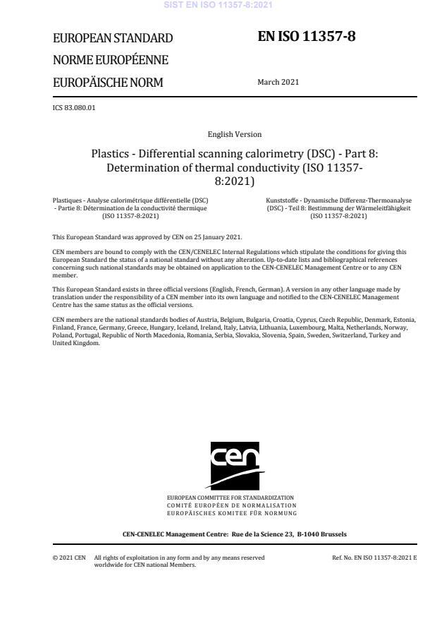 SIST EN ISO 11357-8:2021