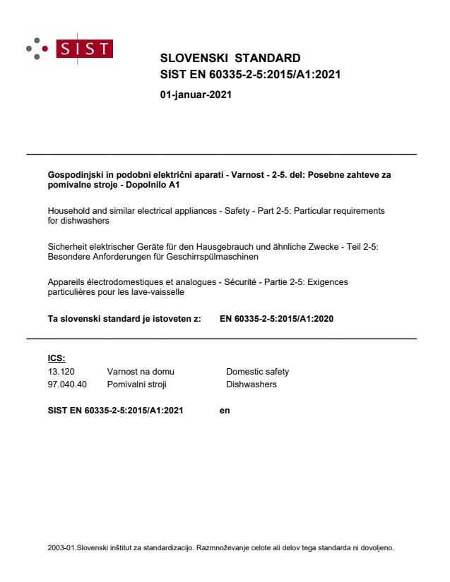 SIST EN 60335-2-5:2015/A1:2021