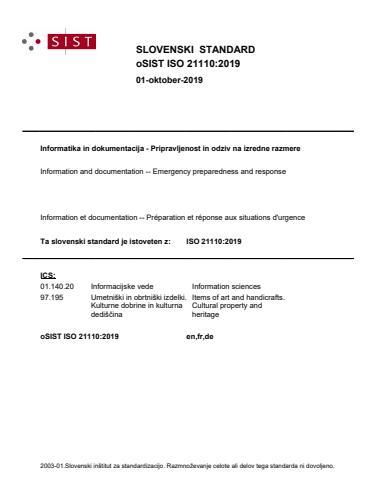 SIST ISO 21110:2021