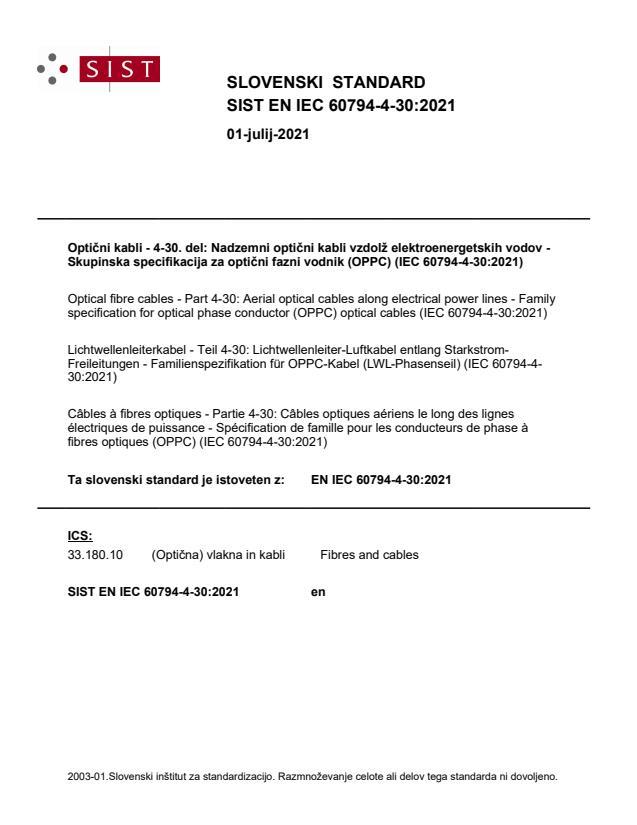 SIST EN IEC 60794-4-30:2021
