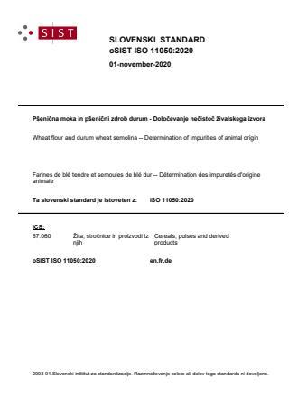 oSIST ISO 11050:2020