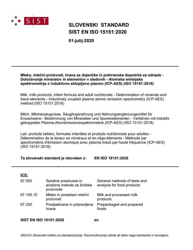 SIST EN ISO 15151:2020