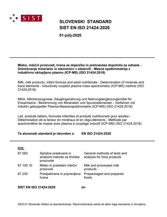 SIST EN ISO 21424:2020