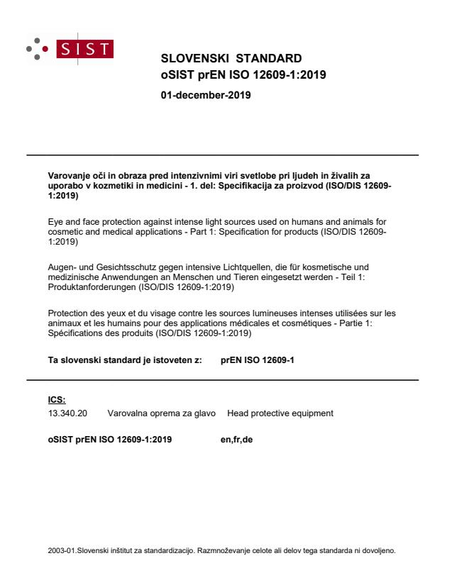 FprEN ISO 12609-1