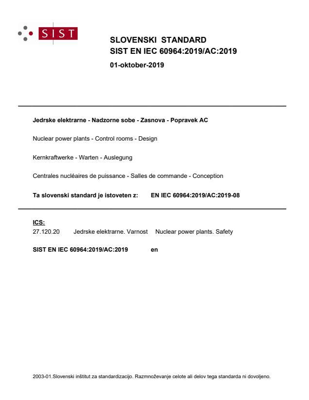 SIST EN IEC 60964:2019/AC:2019