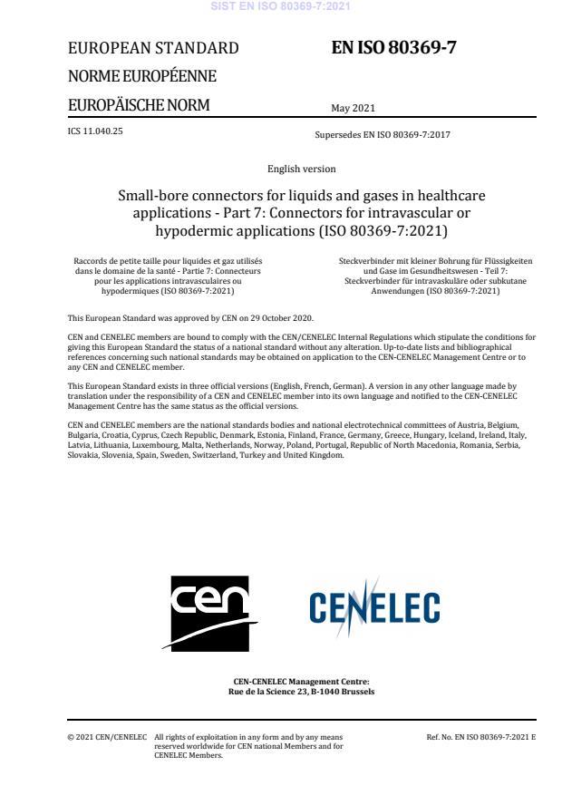 SIST EN ISO 80369-7:2021