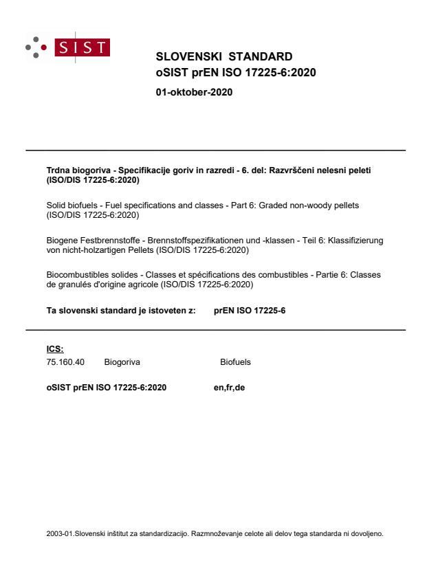 oSIST prEN ISO 17225-6:2020