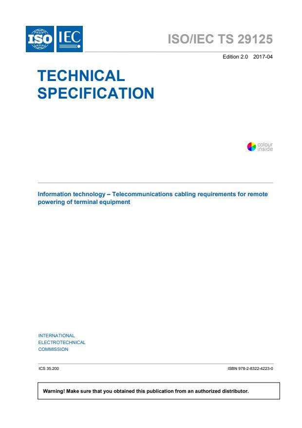 ISO/IEC TS 29125:2017