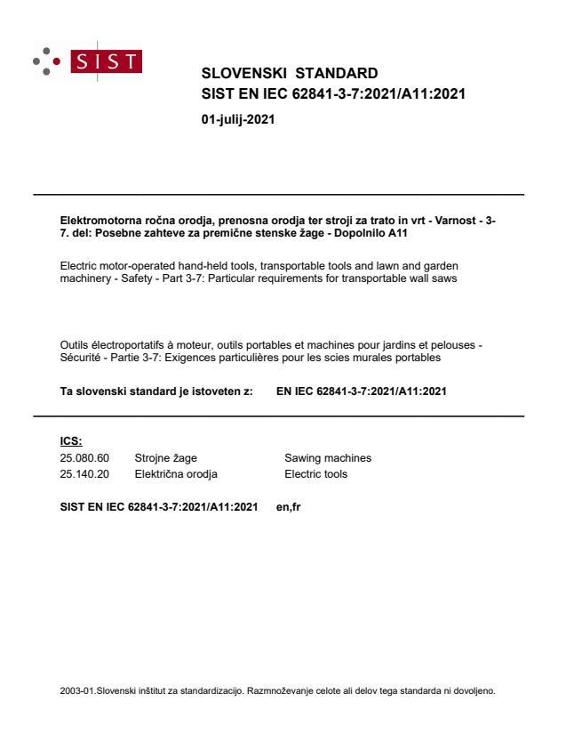 SIST EN IEC 62841-3-7:2021/A11:2021