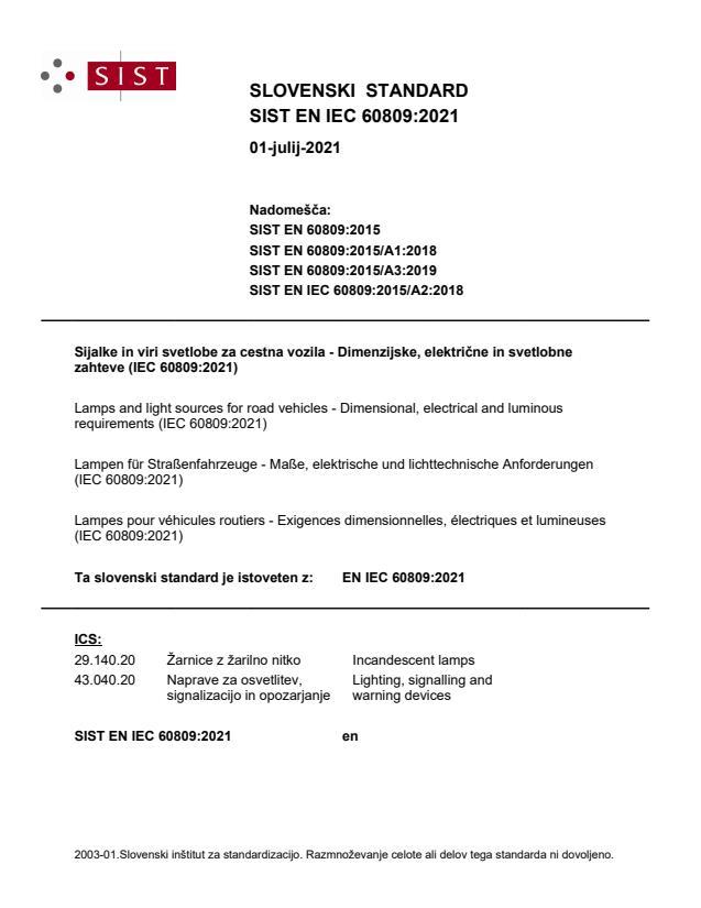 EN IEC 60809:2021