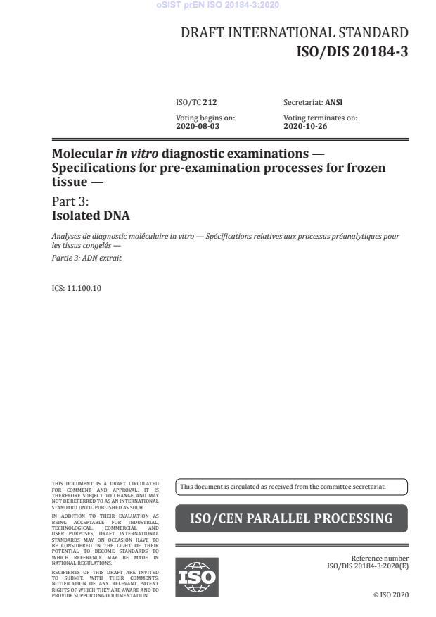 SIST EN ISO 20184-3:2021