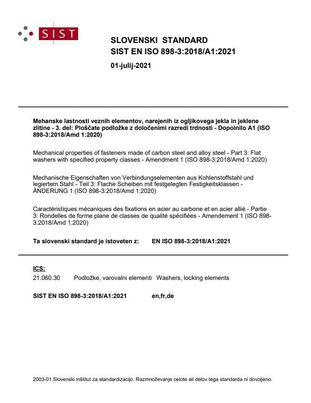 SIST EN ISO 898-3:2018/A1:2021