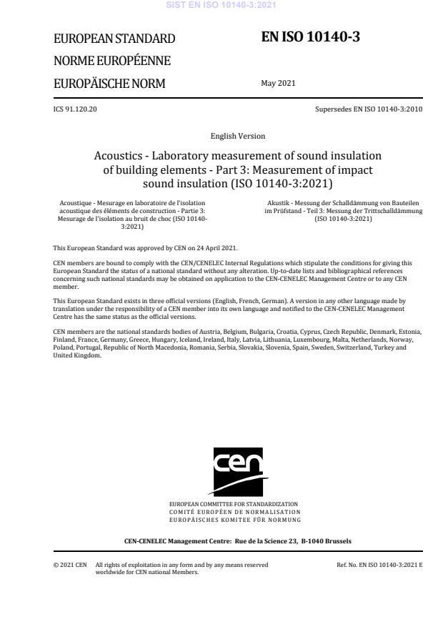 SIST EN ISO 10140-3:2021