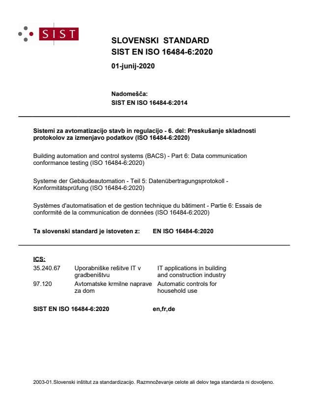 EN ISO 16484-6:2020