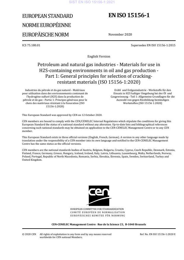 SIST EN ISO 15156-1:2021